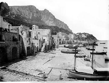 """Giacomo Brogi (1822-1881) - """"Isle of Capr..."""