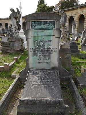 Leslie Brass - Brass family monument, Brompton Cemetery