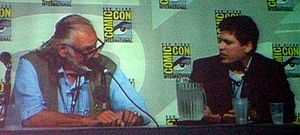 World War Z - Max Brooks (right) with George Romero at the SDCC 2007