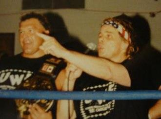 Bruce Hart (wrestler) - Bruce Hart (right) in 1997