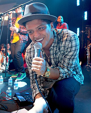 Bruno Mars - Mars performing in Las Vegas in 2010