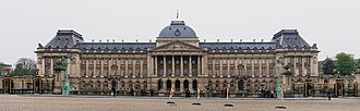Royal Palace of Brussels - Main façade of the Royal Palace of Brussels (constructed 1904)