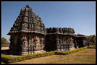 Bucesvara Temple, Koravangala - South West View, Bucesvara temple (1173 AD) at Koravangala in Hassan district