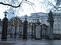 Buckingham Palace from Constitution Hill SW1 in heavy sleet - geograph.org.uk - 1623458.jpg