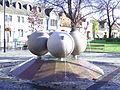 Budapest. Stone Balls III. Puskás Ocsi ter..JPG