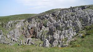 Español: Vista parcial de las minas de Buferre...