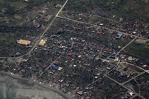 Maconacon, Isabela - Aerial view of Maconacon after Typhoon Megi (2010)