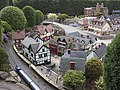 Buildings and train, Bekonscot.JPG