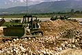 Bulldozer at Rinas Airport 1999.jpg