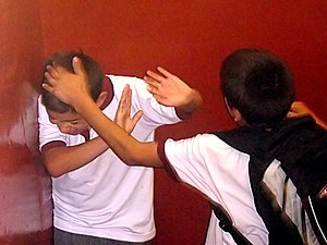 School bullying - Image: Bullying on Instituto Regional Federico Errázuriz (IRFE) in March 5, 2007