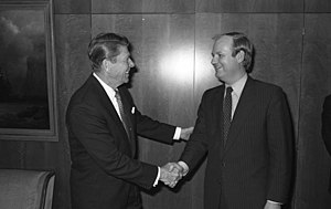 Dietrich Stobbe - Dietrich Stobbe with Ronald Reagan in 1978