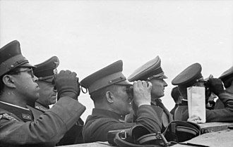 Hiroshi Ōshima - Ōshima (center) touring the Atlantic Wall with other Japanese and German officials in 1943