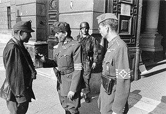 Government of National Unity (Hungary) - Hungarian officers in Budapest, October 1944.