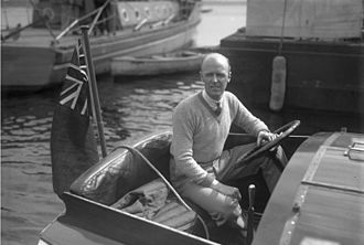 Henry Segrave - Segrave aboard Miss Alacrity in 1929.