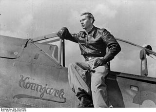 Konrad Bauer German fighter ace and Knights Cross recipient