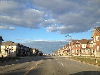 Wismer Commons, Ontario - Looking East on Bur Oak Avenue, by Fred McLaren Boulevard.