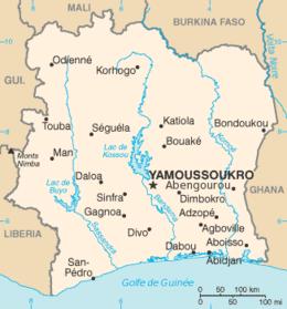 Costa d'Avorio - Mappa