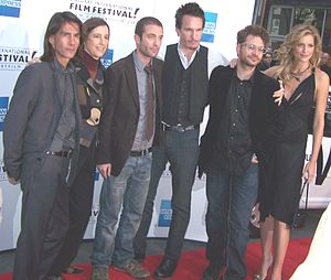 Walk All over Me - Left to right: Lothaire Bluteau, Carolyn McMaster, Jacob Tierney, Michael Eklund, Robert Cuffley, and Tricia Helfer (CIFF 2007)