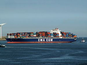CMA CGM Parsifal IMO 9318060 approaching Port of Rotterdam, Holland 08-Jul-2006.jpg