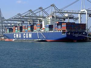 CMA CGM Pelleas pic5, Amazone harbour, Port of Rotterdan, Holland 26-Sep-2008.jpg