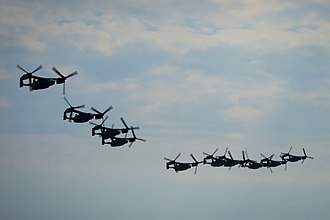 20th Special Operations Squadron - Squadron CV-22 Osprey in formation in formation with Ospreys from the 8th Special Operations Squadron