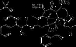 Strukturformel von Cabazitaxel