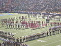 Cal & Stanford bands performing pregame at 2008 Big Game 2.JPG