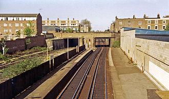 Caledonian Road & Barnsbury railway station - Image: Caledonian Road & Barnsbury station geograph 3098867 by Ben Brooksbank