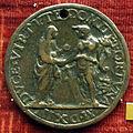 Camelio (maniera di), medaglia di giuliano ii de' medici duca di nemours, verso con virtù e fortuna, 1513.JPG