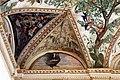 Camillo mantovano, volta della sala a fogliami di palazzo grimani, 1560-65 ca., lunette con grottesche e rebus allusivi al processo per eresia di giovanni grimani 01 gallo.jpg