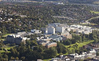 Norwegian University of Science and Technology - Aerial photograph of Gløshaugen Campus, 2009