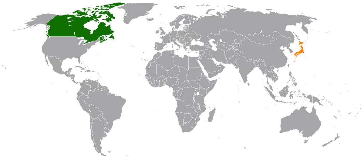 Canada Japan Map Canada–Japan relations   Wikipedia