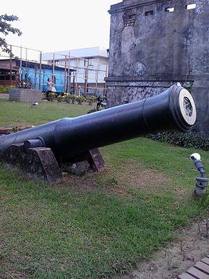 Subic Spanish gate - Image: Cannon beside Spanish gate