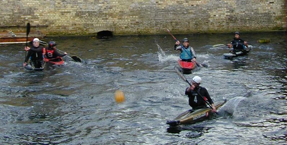 Canoe polo practice