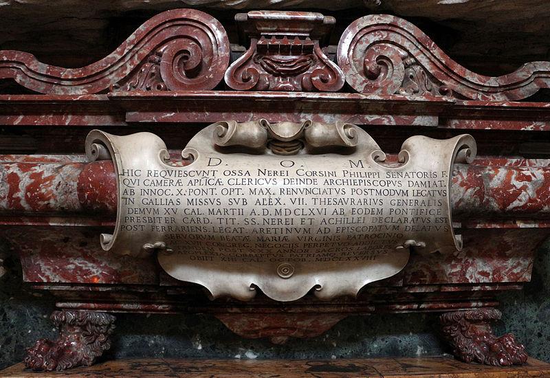 Cappella corsini al carmine, tomba di neri corsini, vescovo di arezzo.JPG