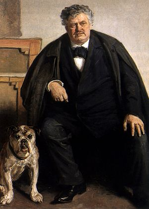Carl Locher - Carl Locher painted with his dog Tiger by Michael Ancher in 1909