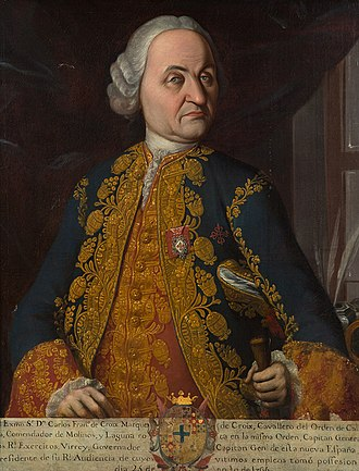 New Spain - Carlos Francisco de Croix, marqués de Croix, Viceroy of New Spain (1766-1771)