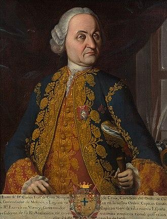New Spain - Carlos Francisco de Croix, marqués de Croix, Viceroy of New Spain (1766-1771)