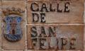 Carlos Chacón (RPS 29-09-2013) cerámica en calle San Felipe, Alcalá de Henares.png