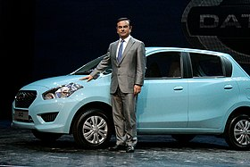 Carlos Ghosn at Datsun Go Launch New Delhi India July 15 2013 Picture by Bertel Schmitt.jpg