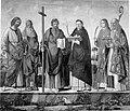 Carpaccio - San Giacomo e Sant'Antonio Abate; Sant'Andrea e San Domenico; San Lorenzo e San Nicola di Bari, 1500-1510.jpg