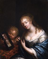 Caspar Netscher Venus mit Cupido