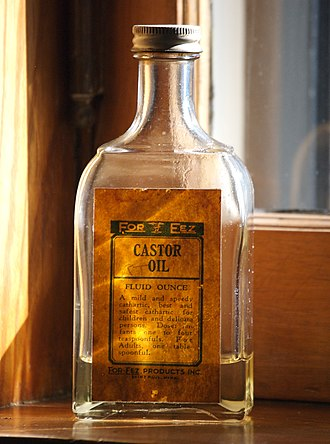 Castor oil - A bottle of castor oil.