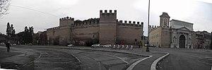 Castro Pretorio - le mura a Porta Pia 1849