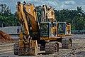 Caterpillar 374D and 390D Hydraulic Excavator Crawlers Davie Florida JTPI 5202 (45651942645).jpg
