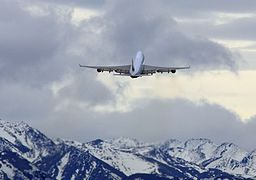 Cathay Pacific Cargo 747 clearing the Chugach Mountains in Anchorage (6193707491)