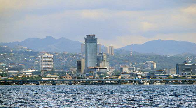 Skyline of Cebu City, the HQ of PRworks