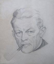 Cecil Howard - Autoportrait au crayon (1950).jpg