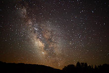 Center of the Milky Way Galaxy from the mountains of West Virginia - 4th of July 2010.jpg