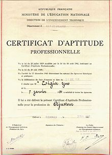 exemple d attestation de qualification professionnelle